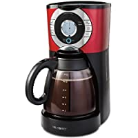 Mr. Coffee EJX36 12-Cup Programmable Coffeemaker, Red