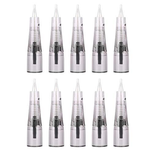 10pcs maquillage aiguilles de Microblading anesthésiques cartouches gratuites d'aiguille de tatouage de lèvre de sourcil(3P)