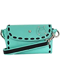 Hippo Women's Leather Sling Bag (Goat Leather , Black)