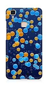 Amez designer printed 3d premium high quality back case cover for Vivo V3 Max (Points circles colorful light small scattering)
