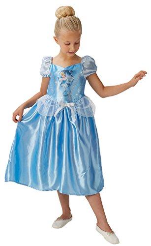 Faschingsfete Mädchen Kostüm Karneval Prinzessin Fairytale Schimmerglanz Cinderella, Blau, Größe 98-104, 3-4 Jahre