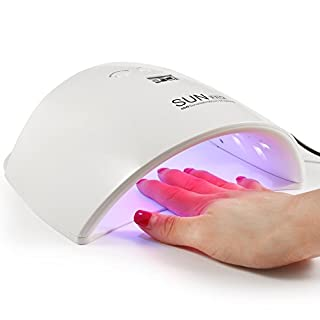 48W UV LED Nail Lamp Dryer Machine for Gel Polish Varnish with 3 Timer Setting (30s, 60s, 90s), 3 LED for Whiten Skin, Perfect Salon Tool for Hands and Toes