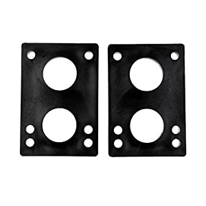 Gazechimp 1 Paar Longboard / Skateboard Shockpads 8mm Riser Pads – Schwarz