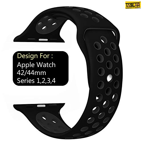 Taslar Replacement Band Strap for Apple Watch 42mm / 44mm Series 4, Series 3, Series 2, Series 1, Sport, Edition