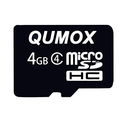 QUMOX 2X 4GB 4 GB MicroSD Micro SD Flash Karte Card Speicherkarte Class 4