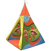 Toi Toys Tienda de Campaña Tienda Teepee Tienda India Casita de Tela Casita Infantil Interior Exterior