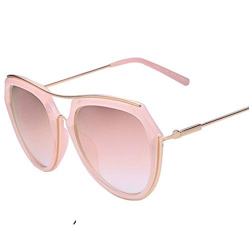 Runde konfrontiert polarisierende Sonnenbrillen/Net rot Vintage Sonnenbrillen/Rosa Spiegel/Frosch-Spiegel-D
