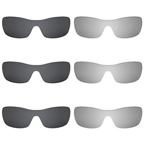 Revant Ersatzlinsen für Oakley Antix Polarisiert 6 Paar Kombipack K028