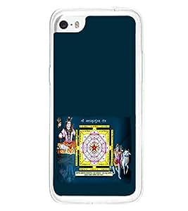 Fuson Premium Maha Mrityinjay Yantra Metal Printed with Hard Plastic Back Case Cover for Apple iPhone 5C