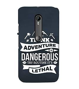 FUSON Think Adventure Dangerous Lethal 3D Hard Polycarbonate Designer Back Case Cover for Motorola Moto G Turbo Edition :: Virat FanBox Moto G Turbo Virat Kohli