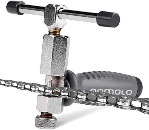 Qomolo Herramienta de Cadena para Bicicleta,Multifunción Profesional Herramienta Divisor de Cadena para Universal de 1 a 11 Bicicletas de Velocidad Bicis Remoción de la Reparación Tool Kit