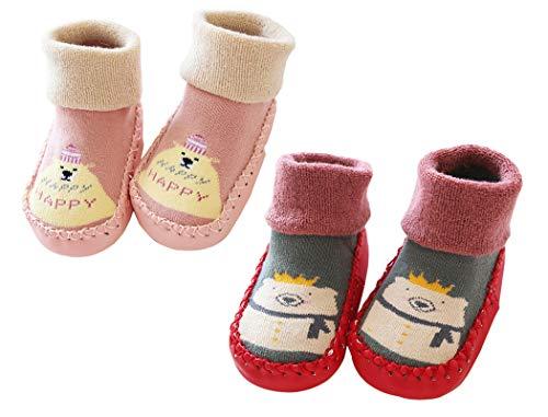Baby Socken Hüttenschuhe Anti Rutsch Babysocken kinder Baumwolle Socken Lieblich Cartoon 0-36 Monate XWPKRD2-L