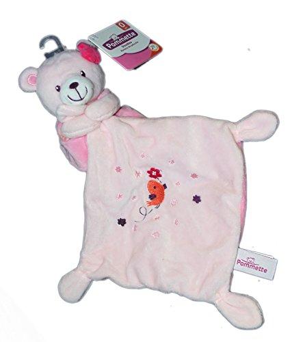 doudou-orso-rosa-fazzoletto-uccello-pommette-intermarche