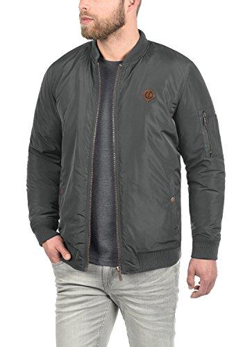 !Solid Park Herren Bomberjacke Übergangsjacke Jacke Mit Stehkragen, Größe:L, Farbe:Dark Grey (2890)