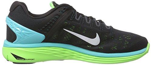 Nike Nike Lunareclipse 5, Chaussures de course homme Noir (Schwarz/helles Retro/blitz-limone/weiß)