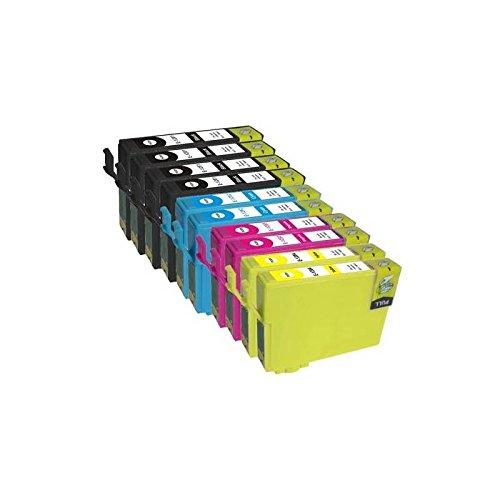 T1636-T1621 Kit 10 Cartucce Compatibili Per Epson 16xl WorkForce WF2010 2510 2520 2530 2540 2630