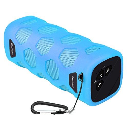 Altavoz Bluetooth al Aire Libre, Esonstyle Hilos al Aire Libre Impermeable a Prueba de Polvo a Prueba de Choques de Altavoces con 10W de Sonido de Alta Definición y la Batería de 4000 mAh Soporte Banco de la Energía, NFC y Construir-en el Micrófono para el iPhone, iPad, Samsung y Más (Azul)