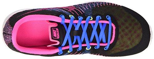 Nike Mädchen Flex Fury (GS) Laufschuhe Negro / Rosa / Verde / Blanco (Black / Pink Pow-Volt-White)