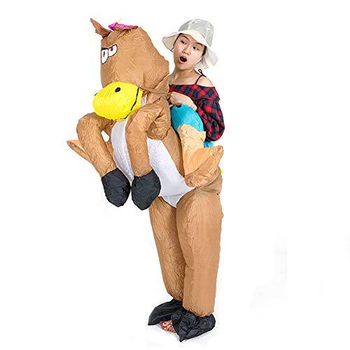 Frau Aufblasbar Pferd Kostüm Komisch Tier Reiten Halloween Sprengen Kostüm Cosplay Passen Karneval Halloween - Frau Pferd Kostüm