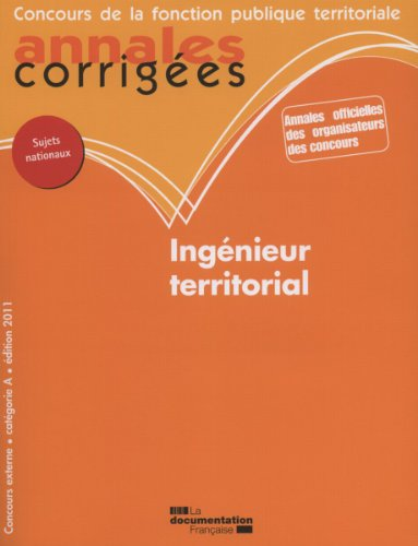 Ingnieur territorial 2011 - Concours externe - Catgorie A