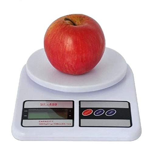 GEOMAN Electronic Kitchen Digital Weighing Scale, Multipurpose (White, 10 Kg)
