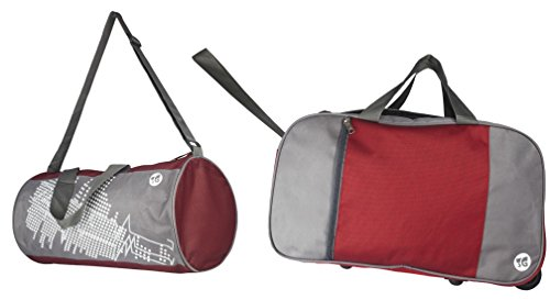 3G Maroon Set Of Polyester Maroon Soft Sided Travel Bag Set