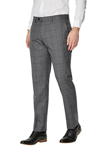 next Uomo Completo Signature A Reticolo: Pantaloni Vestibilità Sartoriale Grigio