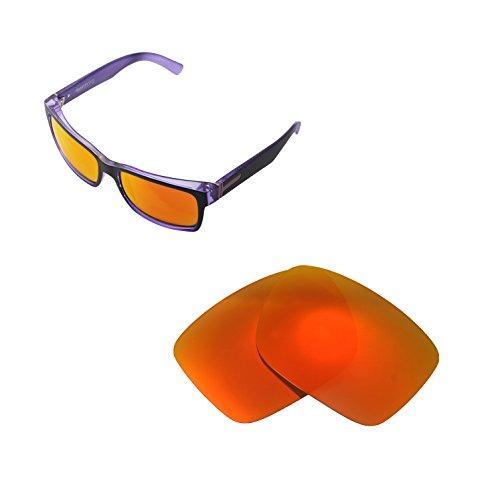 Walleva Ersatzgläser für VonZipper Elmore Sonnenbrille - Mehrfache Optionen (Feuer Red Mirror Coated - Polarisiert)