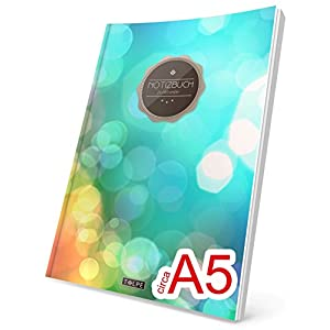 """TULPE Punktraster Notizbuch: Ca. A5 """"C002 City Lights"""" (Vintage Softcover, Register, Punktkariertes Papier - Bullet Journal, Notizheft, Skizzenbuch, Tagebuch, Gepunktete Seiten, Dot Grid Notebook)"""