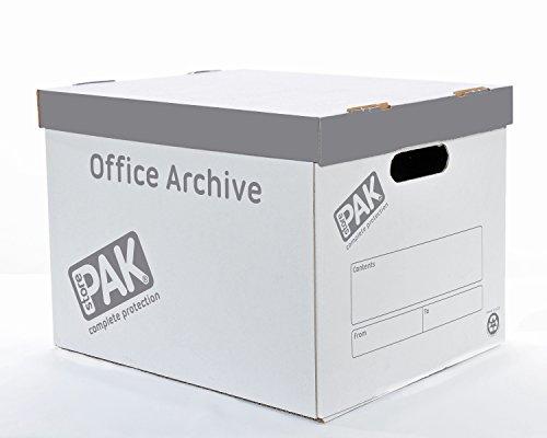 Storepak ufficio archivio, confezione da 10-bianco/grigio