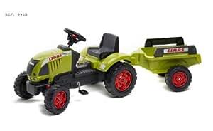 Falk - 992B - Vélo et Véhicule pour Enfant - Tracteur Claas Ares + Remorque PM