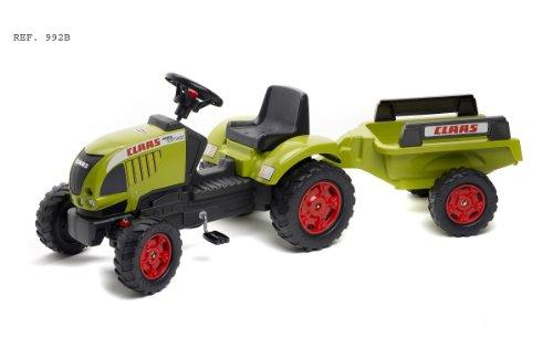 *FALK Kindertraktor Claas Ares 657 +Anhänger*