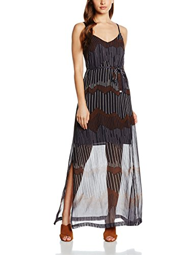 Great Plains Damen Kleid Sand Dunes Maxi Dress, Blau (Ebony Navy Combo), 36 (Herstellergröße: X-Small)