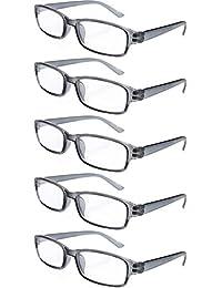 9c8be277d8 4sold Gafas de Lectura Presbicia Vista Cansada - (Pack 5) Graduadas fde 0.5  a 4.00 Dioptrías Montura de Pasta Azul Marrón Negra…