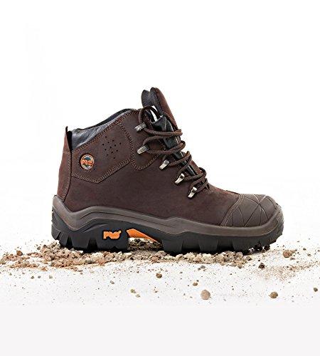 Chaussures de sécurité haute cuir huilé pleine fleur SNYDERS S3 SRC Braun