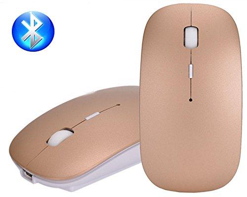 Wireless 2-knopf-bluetooth-maus (Bluetooth Mouse, EONANT 3.0 Portable Maus mit Wiederaufladbare Wireless USB Maus Leise und Ruhig Click für Notebook, PC, Laptop, Computer, Windows / Android Tablet, Macbook (Gold))