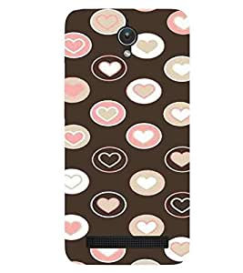Heart, Black, multicolour heart, Magnificent Pattern, Printed Designer Back Case Cover for Asus Zenfone C ZC451CG :: Asus ZenFone C (ZC451CG) :: Asus Zenfone C
