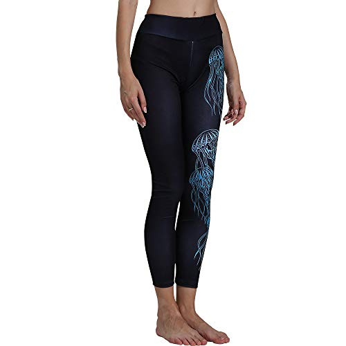 Sport Leggings Hose MYMYG Damen Mode Farbverlauf Farbe High Waist Push Up Yoga Fitness Gym SporthosenElastische Dünne Hosen Sporthose(Schwarz,EU:38/CN-L)