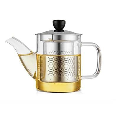 Met Love Épaississement haute température en verre théière santé pot en acier inoxydable filtre pot théière théière