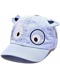 Koly Bebé Sombreros y gorras, Bebé Niños Sombrero de béisbol de Perro, raya de color (Azul)