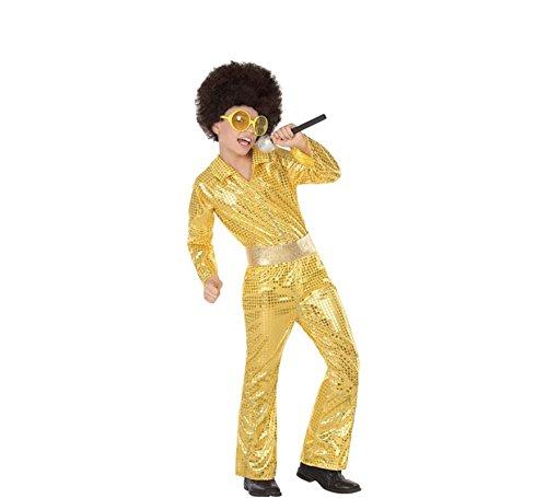 Atosa Disfraz de Disco Dorado para niño