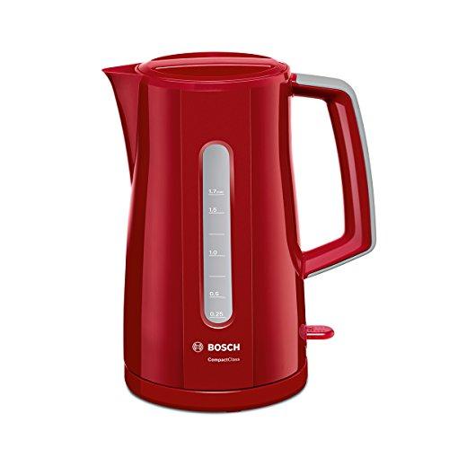 Bosch TWK3A014 Bollitore 2400 W 7 Cups 0 Decibel Acciaio Inossidabile Rosso