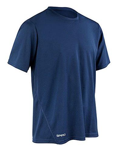 SPIRO Mens Quick Dry Shirt, Navy, L