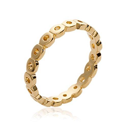 ISADY - Mamala Gold - Damen Ring - 18 Karat (750) Gelbgold - Vorsteckring Ehering Trauring