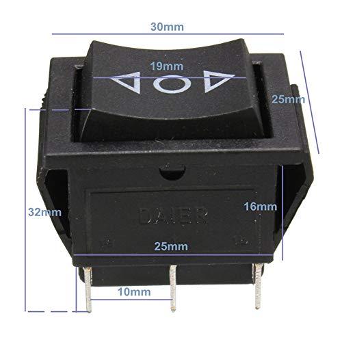 HoganeyVan Switch/Relay AC 250V/10A 125V/15A 6-Pin DPDT Power Window Momentary Rocker Switch 12 V -