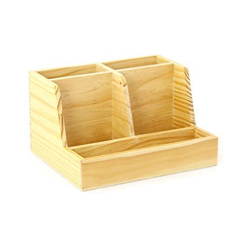 LIYANSNH Organizzatore di Trucco Desk Top Organizer Lettera Storage Rack  Pencil Pencil Holder-Wooden -5 Grid