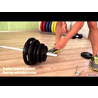 Bodymax 100kg Olympic Cast Barbell Kit with 7' Olympic Bar