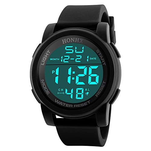 IG-Invictus Männer Analog Digital Military Armee LED wasserdichte Armbanduhr HONHX Elektronische Uhr 9340-176 Schwarz