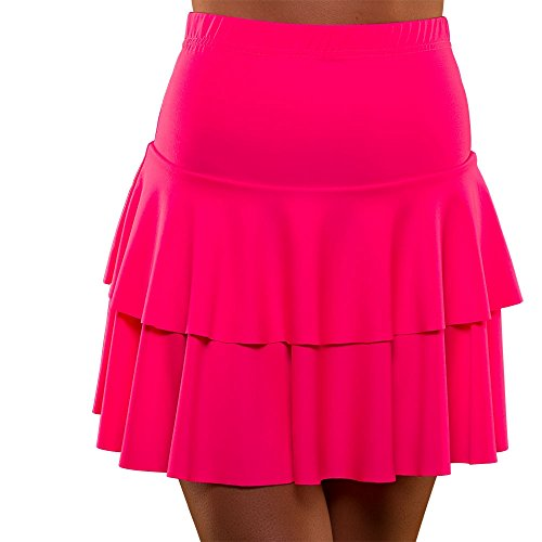 Adults 80's Neon Pink Ra Ra Skirt. 5 Colours Available, Small, Medium