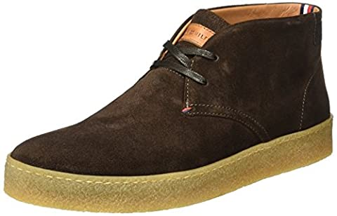 Tommy Hilfiger Herren L2285OGAN 2B Hohe Sneakers, Braun (Coffee Bean),